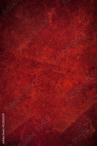 Red Textured grunge background Wall mural