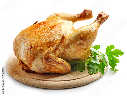 Deurstickers Kip whole roasted chicken