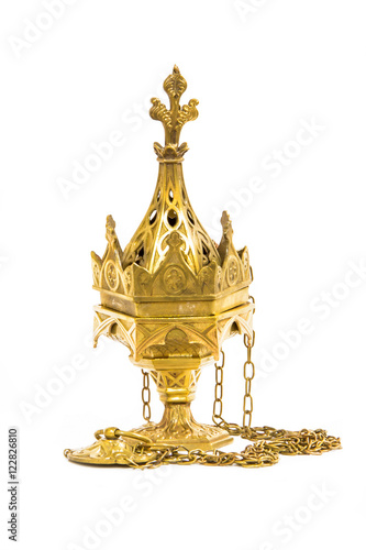 Fotografia, Obraz  Censer hung on  white background