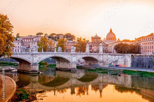 Obrazy na płótnie Canvas Ewige Stadt Rom, Italien, Panorama