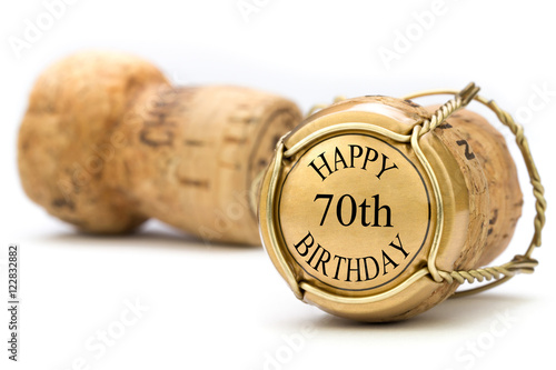 Photographie  Happy 70th Birthday - Champagne
