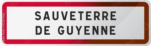 Cuadros en Lienzo Panneau Sauveterre de Guyenne, ville de Gironde (33) - Région Nouvelle-Aquitaine