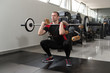 Barbell Squat Workout For Legs In Gym