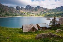 Allos Lake At National Park Of...