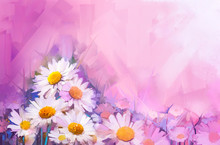 Oil Painting Flowers. Hand Pai...