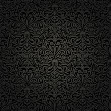 Seamless Background Of Black C...