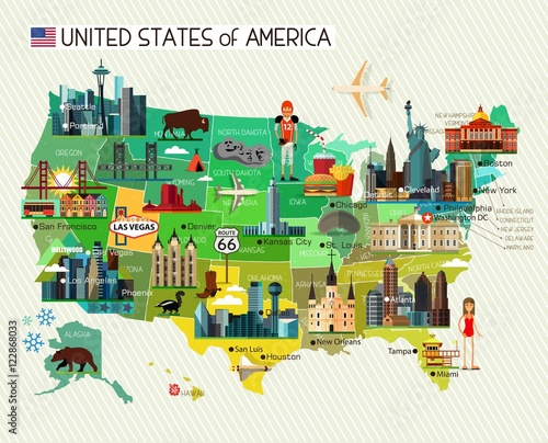 Photo USA Travel Map.