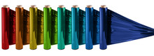 Roll Of Colorful Wrapping Plas...