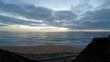 Sonnenuntergang an portugiesischem Strand