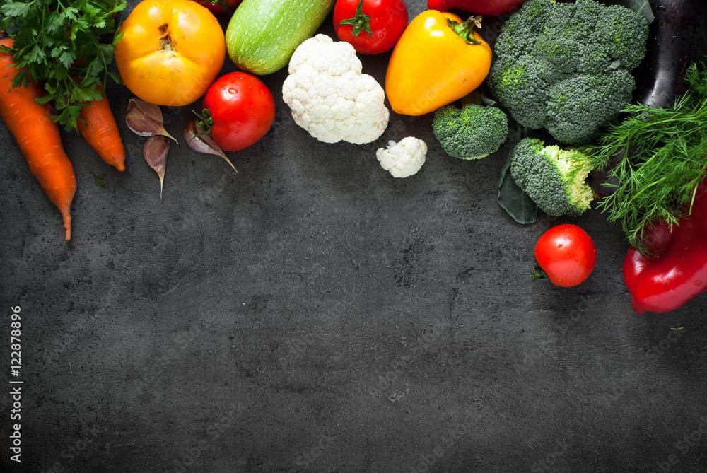 Fresh farmer vegetables.