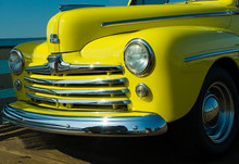 Old Yellow Truck With Chrome Grill