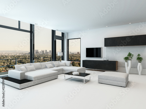 Stylish modern black and white living room – kaufen Sie ...