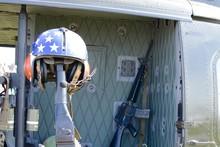 A Door Gunners Helmet Hanging ...