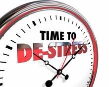 Time To De-Stress Clock Relax ...