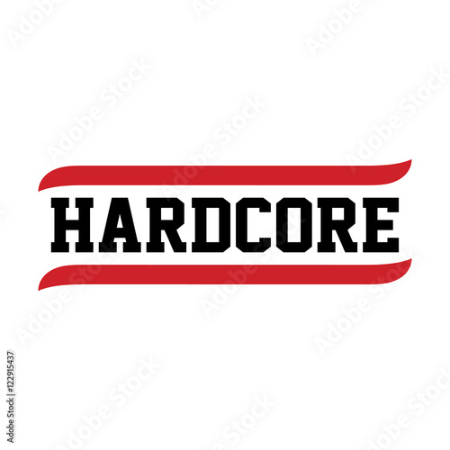 black red text hardcore Canvas