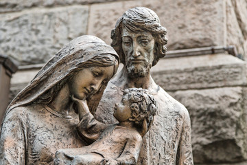 Sculpture of the holy family