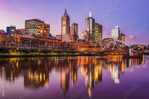 Fototapeta premium Zachód słońca nad Melbourne