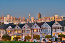 San Francisco Skyline With Old Buildings