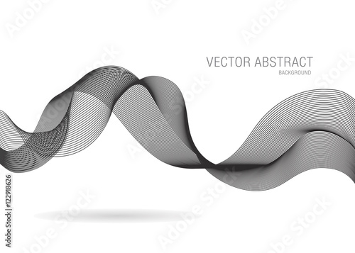 Fototapety, obrazy: abstract business line wave vector background