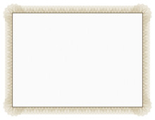 Classic Style Certificate With...