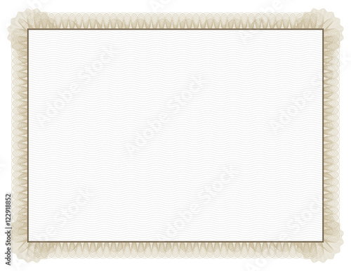 Photo  Classic style Certificate with light brown floral border