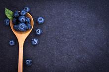 Fresh Picked Blueberries In W...