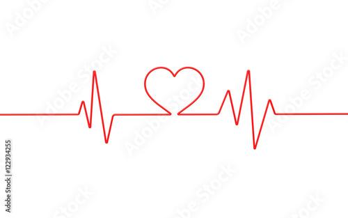 Photo  Heart monitor. 3d illustration