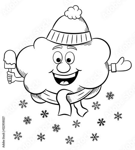 schnee wolke mit schla und mütze  kaufen sie diese