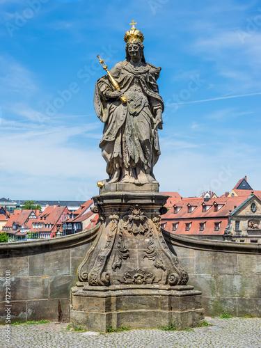 Foto op Plexiglas Artistiek mon. Statue of St. Cunigunde as Holy Roman Empress, in Bamberg