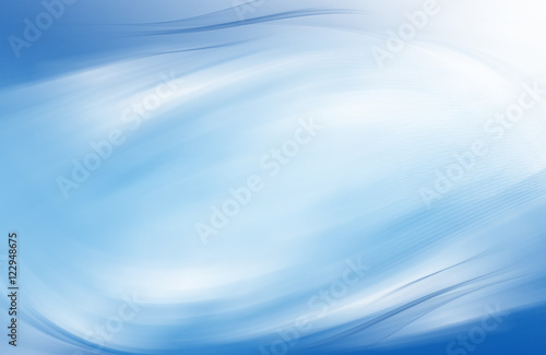 Blue abstract background with mesh, wavy cloth and smooth lines