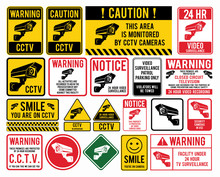 "Video Surveillance Signs. CCTV ""Closed Circuit Television"" Signs"