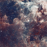 Fototapeta Space - Galaxy illustration, space background with stars, nebula, cosmos clouds