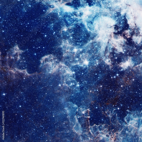 Fotomural Galaxy illustration, space background with stars, nebula, cosmos clouds