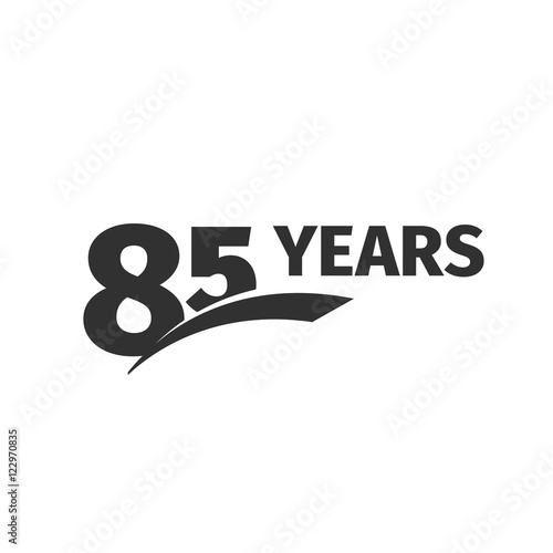 Poster  Isolated abstract black 85th anniversary logo on white background