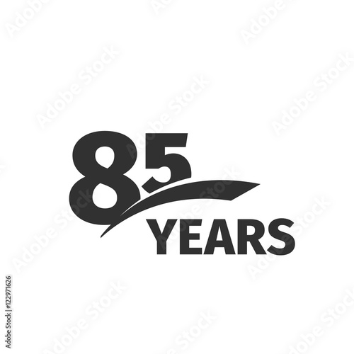 Fotografía  Isolated abstract black 85th anniversary logo on white background