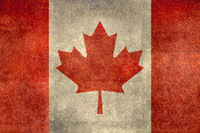 Flag Of Canada With Distressed...