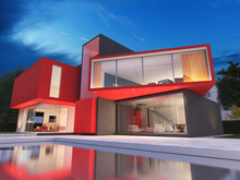Modern Red House