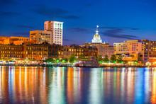 Historic District Waterfront Of Savannah, Georgia