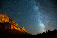 Nightscape Milky Way In Zion C...