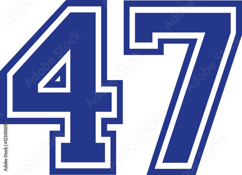 Poster  Fourty-seven college number 47