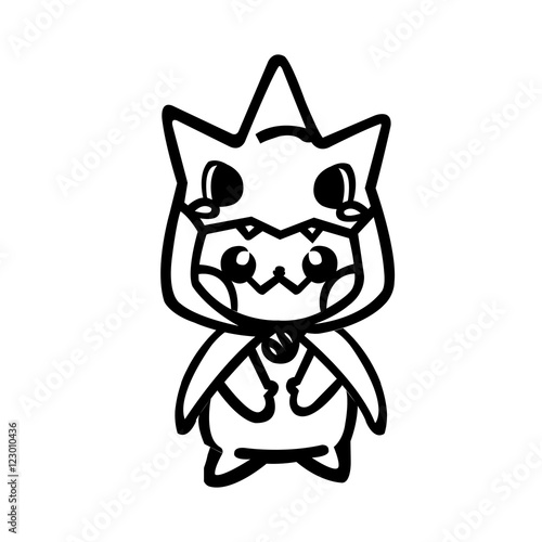 Photo  pikachu line art drawing