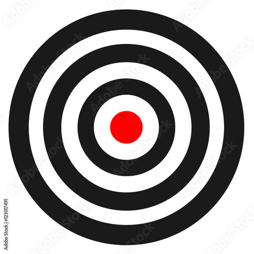 Fotografía  Blank template for sport target vector shooting competition