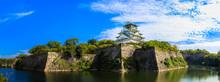 大阪城 青空 パノラマ