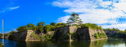 Photo 大阪城 青空 パノラマ