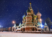 St. Basil's Cathedral In Winter (snow Storm), Russia