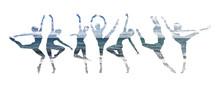 Double Exposure Of Ballet Danc...