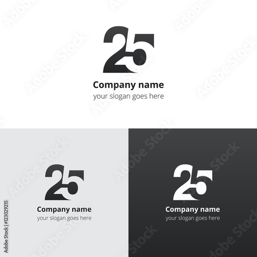 Photographie  25 logo icon flat and vector design template