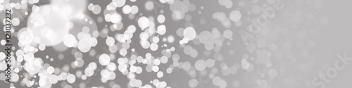 Fototapeta abstrakter Panorama Hintergrund in grau mit Bokeh obraz na płótnie