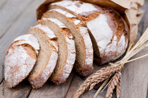 Leinwand Poster Rustikales Brot