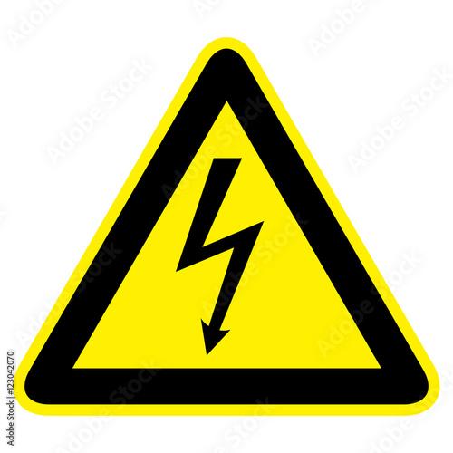 фотография  Warnzeichen Strom